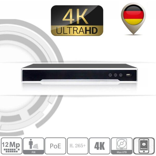 Hikvision DS-7608NI-I2/8P 4K NVR 12MP POE