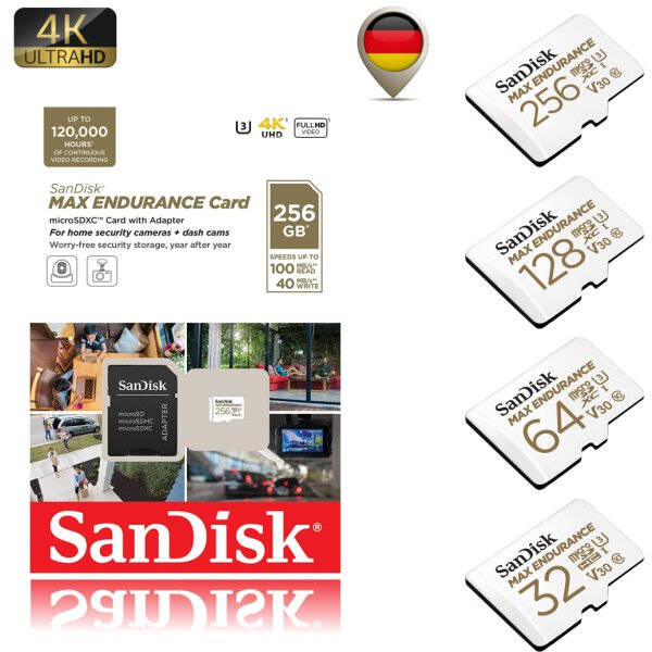 Sandisk MAX ENDURANCE MicroSD Karte für Videoüberwachung